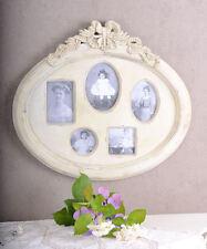 Géant Cadre photo pour 5 Photos Biedermeier Style Blanc Aspect Ancien