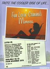 Fun Lovin Criminals Mimosa 2000 Magazine Advert #205