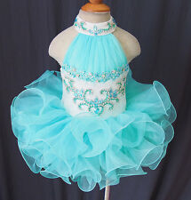 Custom Made Toddler/Children/Kid's Cupcake Pageant Dress For Wedding,Bridal 2016
