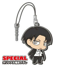 Attack on Titan Levi Suit Rubber Phone Plug Strap Licensed NEW