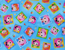 CUTE AS A BUTTON   LALALOOPSY  QUILTING TREASURES COTTON FABRIC NURSERY  YARDAGE
