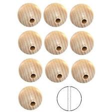 3 SFERE SFERA PERLA LEGNO diametro 3,5 cm con foro passante - palle grezze foro