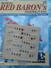 BUILD THE RED BARON'S FIGHTER PLANE FOKKER DR1  HACHETTE  ISSUE 22  NEW SEALED