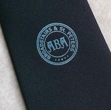 BROADSTAIRS & ST PETERS TIE VINTAGE 1970s 1980s BLACK CLUB ASSOCIATION KENT