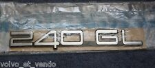 Volvo 240 GL Emblem badge boot trunk NOS new old stock