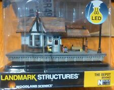 Woodland Scenics N #4942 The Depot (Built-&-Ready)Assembled w/Interior Light