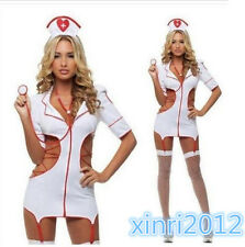 5Pcs Set Sexy Lingerie Nurse Costume Adult Women Halloween Outfit Fancy Dress