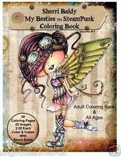 Sherry Baldy Steampunk Besties Adult Colouring Book Fantasy Cartoon Girls Fun