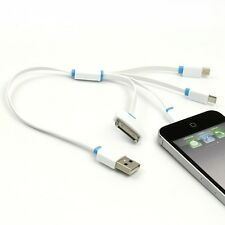 4in1 USB Charging Cable Charger for iPhone 5S/5C/4S/5/6/6 Plus i Pad 2 3 4 Air