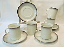 Rosenthal EVENSONG Berlin Shape Platinum Trim 5 Flat Cup & Saucer Sets