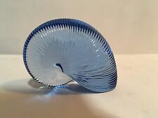 Baccarat Crystal Large 15.6 Oz. Blue Nautilus Shell Paperweight MINT Condition