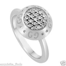 BRAND NEW TOM FORD for GUCCI WHITE GOLD RING with DIAMONDS  sz. 6.5