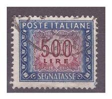 SEGNATASSE LIRE 500 RUOTA - Posizione di filigrana ND 13 1/4  14
