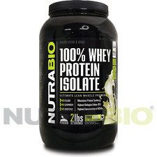 2 lbs WHEY PROTEIN ISOLATE - LACTOSE & FAT FREE - PURE UNFLAVORED