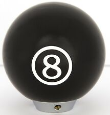 Black 8 Ball Style Universal Gear Knob Brand New