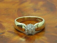 14kt 585 GOLD RING MIT 0,11ct DIAMANT BESATZ / DIAMANTRING GOLDRING