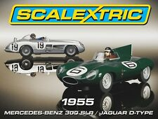 Scalextric C3058A, totally mint unused condition, 1955 Mercedes / Jaguar