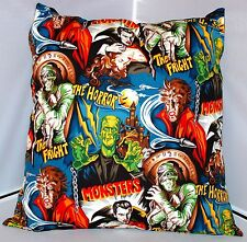 HAMMER HORROR CUSHION FRANKENSTEIN WOLFMAN DRACULA THE MUMMY VAMPIRE KITSCH GOTH