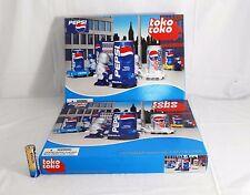 """PEPSI PEPSIMAN """"0001,0003""""Pepsi  Can Helper Figure RARE 2000 TokoToko JAPAN"""