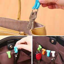 4X Creative Anti Lost Bag Hook Install Built-key Holder Key Clip for Easy Car