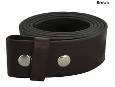 """New Adidas Golf Mens SIZE- 40"""" Leather BROWN ADI Smooth Belt Strap (No Buckle)"""
