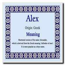 Alex Personalised Name Meaning Coaster