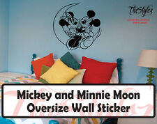Walt Disney - Mickey & Minnie Moon Love Cartoon Logo Wall Vinyl Sticker