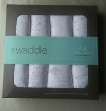 Aden + Anais Set of 4 100% Cotton Muslin Swaddles, Lovely