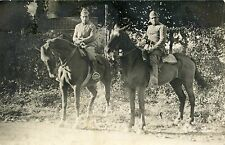 CARTE POSTALE / POSTCARD / PHOTO MILITAIRE  / MILITAIRES A CHEVAL
