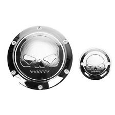 Skull Derby Timing Timer Cover For Harley Davidson Sportster XL 883 1200 Chrome