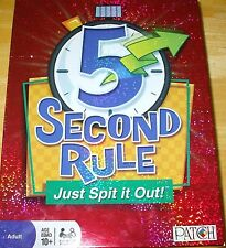 Patch 5 Second Rule! Just Spit It Out! 100% complete! MINT CONDITION!
