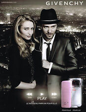 PUBLICTE  2010   GIVENCHY    parfum PLAY elle  & lui  JUSTIN TIMBERLAKE