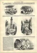 1847 viaja Luristan ilyats Persia Pavilion minar Grabado