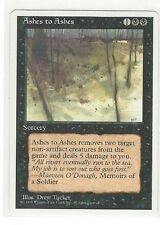 1995 MTG MAGIC THE GATHERING 4TH. FOURTH EDITION BLACK ASHES TO ASHES - SORCERY