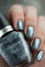 Cuccio Colour ~VEGAS VIXEN~ Silver Gray Glitter Nail Polish Color Lacquer .5oz