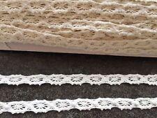 5M VINTAGE de Ganchillo de algodón de encaje blanco guarnecido Boda Nupcial Cinta de 9MM de ancho