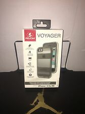 Pelican Progear Voyager Case with Holster for iPhone SE 5 / 5S / SE -Clear/ Gray