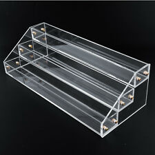 3 Tier Clear Acrylic Display Stand Large Rack Nail Polish Wall Makeup case