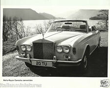 Rolls Royce Corniche Convertible 1975 Original Press Photograph 21cm x 17cm