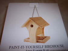 Paint-It-Yourself Birdhouse, Pine, Ages 5 & Up, Feeder on Bottom