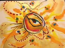 Original Acrylic Painting Evil Eyes Surreal Abstract Expression Signed wall,Art
