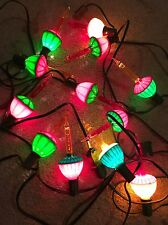 12 Bubble Lights Christmas Tree Two Strands C7 Tulip Red Yellow Lamps Bulbs HTF