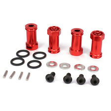Alum 12mm Wheel HEX 25mm Extension Adapter For RC 1:10 Traxxas Slash  Red
