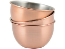Set of 3 NATIONAL TRUST Country Kitchen COPPER FINISH DIPPING BOWLS
