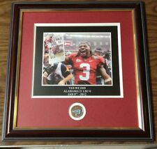 "ALABAMA CRIMSON TIDE FRAMED ART PICTURE "" YES WE DID "" BAMA #1"