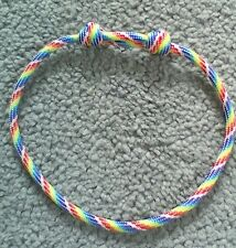 RAINBOW PARACORD THONG BRACELET *NEW* Adjustable Wristband - LGBT Pride