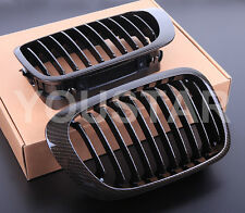 CARBON LOOK KIDNEY GRILLS BMW E46 3 SERIES 2 DOOR 1999 - 03 COUPE CONVERTIBLE M3
