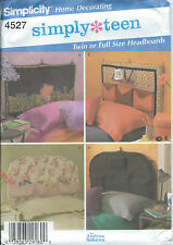 Simplicity 4527 Craft Pattern SIMPLY TEEN Home Decorating HEADBOARDS 2 Sizes