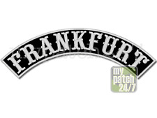 Aufnäher Biker Patch FRANKFURT Bogen oben 30cm gestickt, S8, Top Rocker, MC