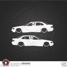 (968) low and Slow BMW E36 Limousine Sticker Aufkleber M3 Motorsport  Turbo